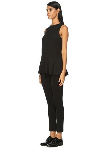 Beymen Collection Etek Ucu Volanlı Kolsuz Bluz Siyah